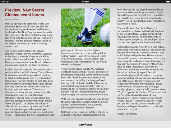 Mockup 02 / Single article view